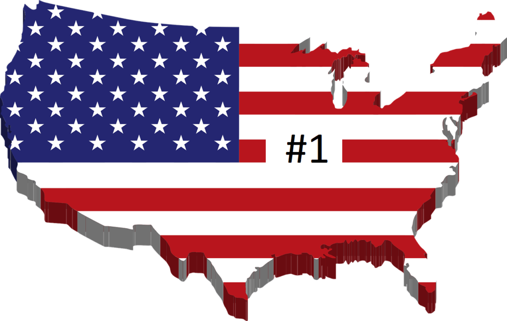 USA Flag as a Map